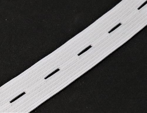 Dírková pruženka bílá 18 mm